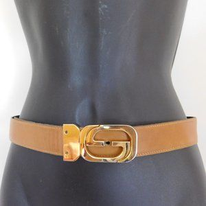 Vintage Gucci Reversible GG Buckle Belt SMALL